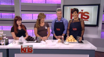 Wicked Good Cupcakes on the Kris Jenner Show with co host Tom Bergeron