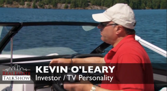 Erin McCoy and Kevin O'Leary Boat Ride Discussing Philanthropy