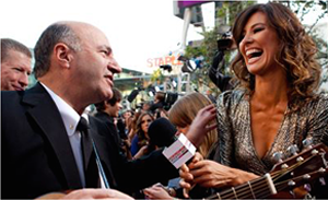 Shark Tank Kevin O'Leary Jams with Dan Richards of One Direction at AMA's